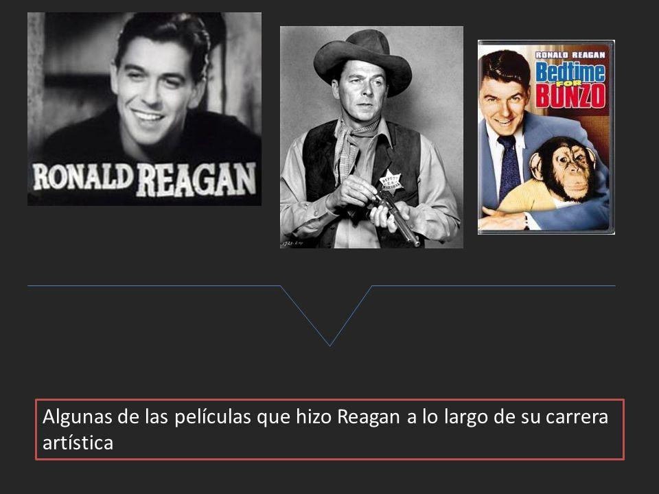 Algunas de las películas que hizo Reagan a lo largo de su carrera artística