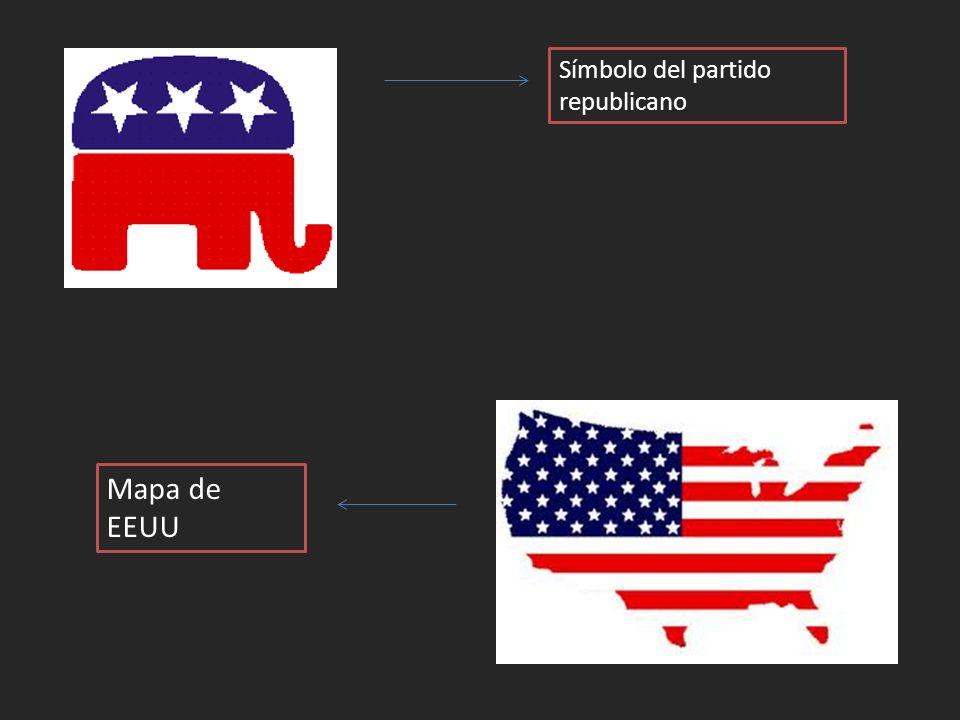 Símbolo del partido republicano Mapa de EEUU