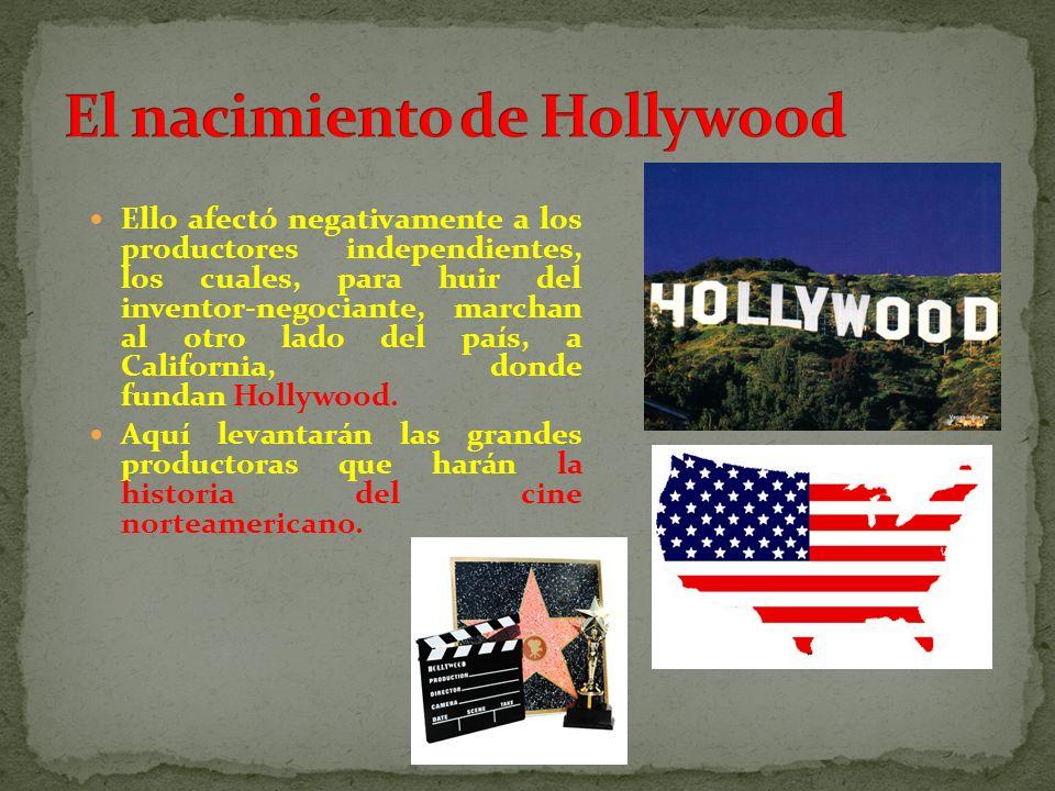 Ello afectó negativamente a los productores independientes, los cuales, para huir del inventor-negociante, marchan al otro lado del país, a California