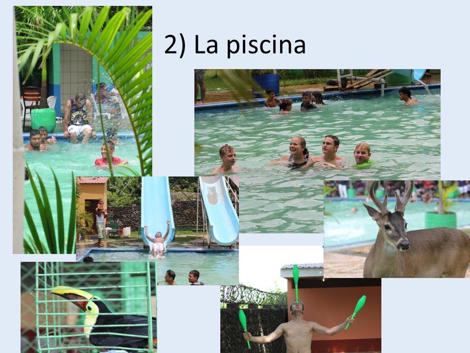 2) La piscina