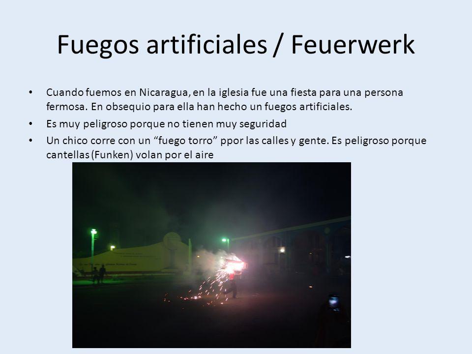 Fuegos artificiales / Feuerwerk Cuando fuemos en Nicaragua, en la iglesia fue una fiesta para una persona fermosa.