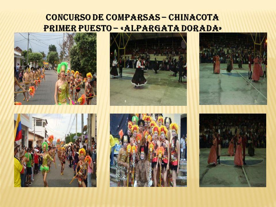 CONCURSO DE COMPARSAS – CHINACOTA PRIMER PUESTO – «ALPARGATA DORADA»