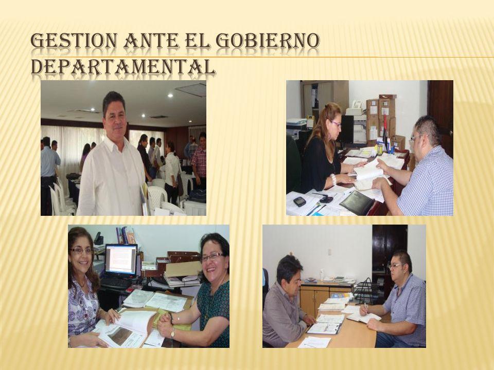 Secretarios del Gobierno Departamental: Cultura, Gobierno y Obras Públicas