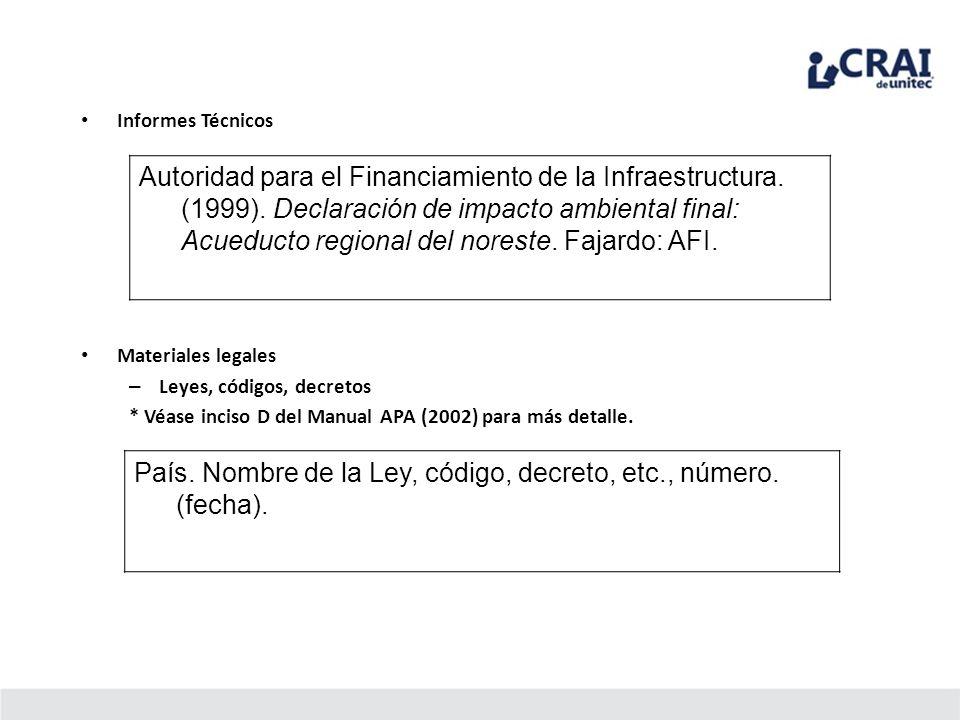 Informes Técnicos Autoridad para el Financiamiento de la Infraestructura. (1999). Declaración de impacto ambiental final: Acueducto regional del nores