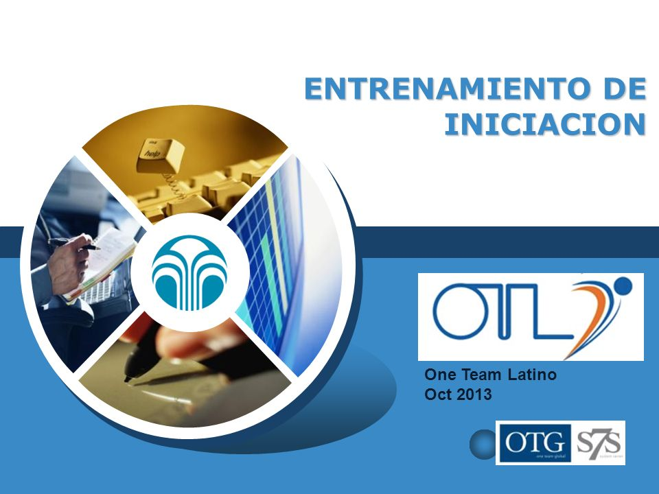 LOGO ENTRENAMIENTO DE INICIACION One Team Latino Oct 2013