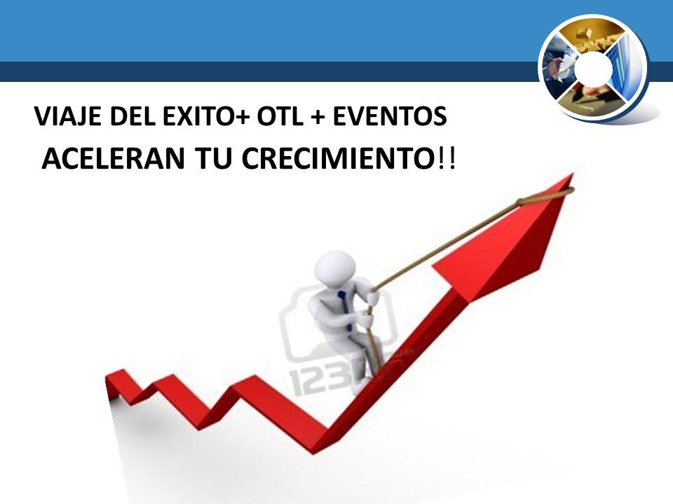 VIAJE DEL EXITO+ OTL + EVENTOS ACELERAN TU CRECIMIENTO!!