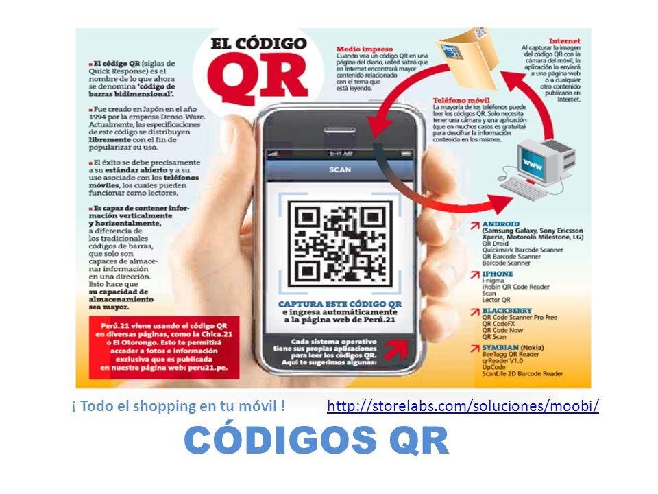 CÓDIGOS QR ¡ Todo el shopping en tu móvil ! http://storelabs.com/soluciones/moobi/http://storelabs.com/soluciones/moobi/