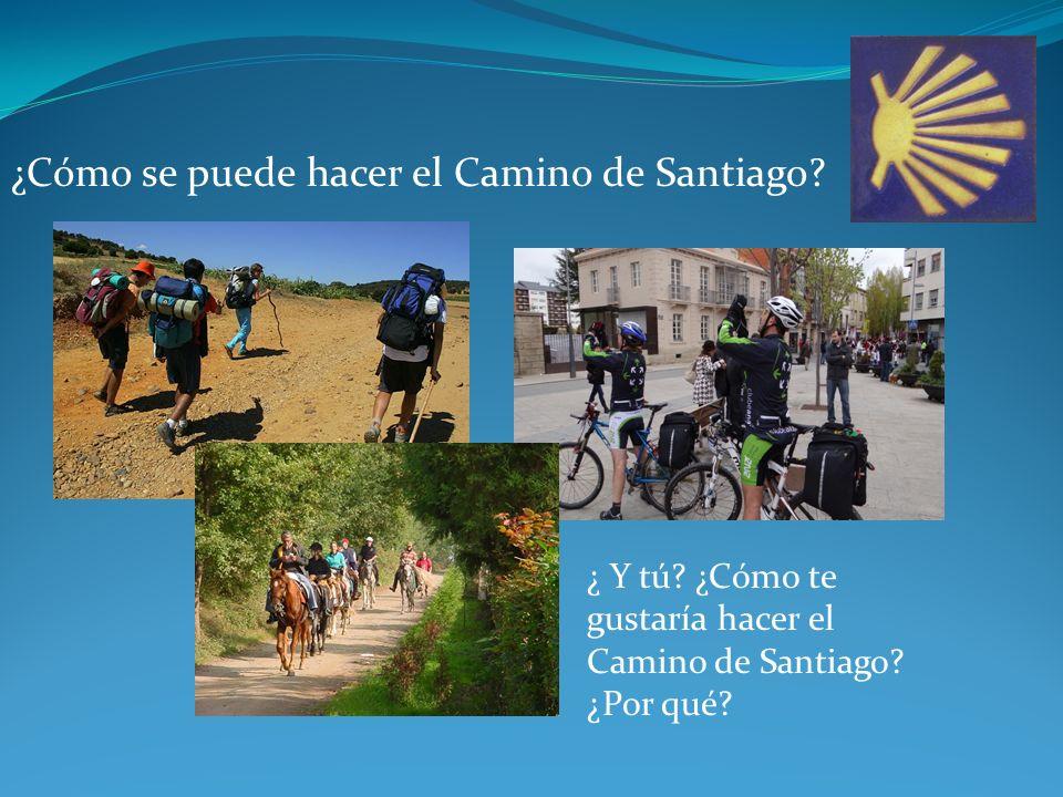 ¿Cómo se puede hacer el Camino de Santiago. ¿ Y tú.