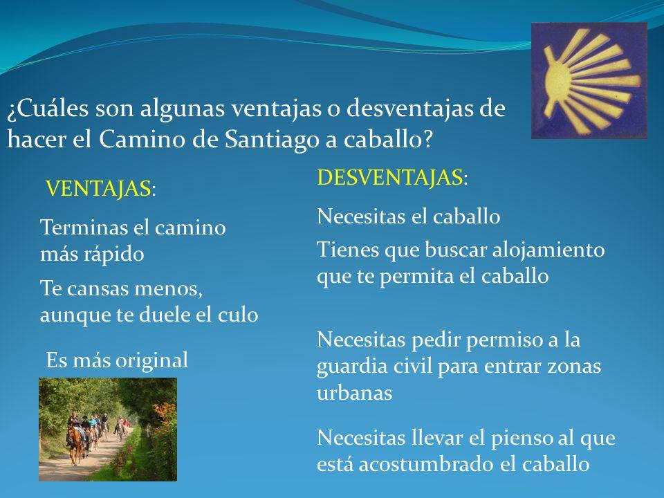 ¿Cuáles son algunas ventajas o desventajas de hacer el Camino de Santiago a caballo.