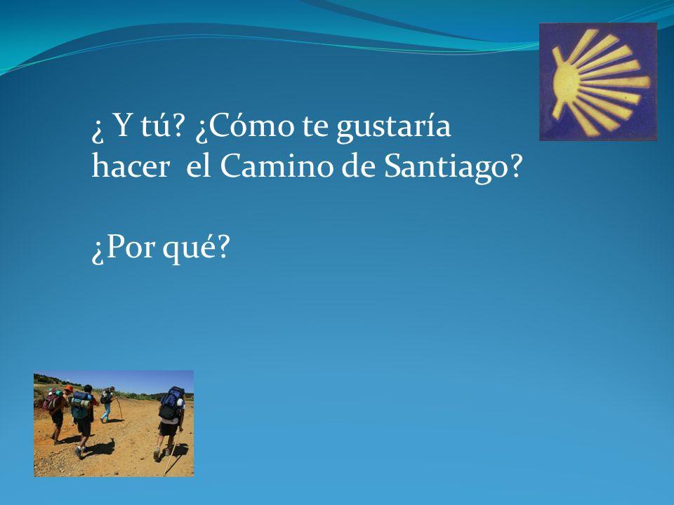 ¿ Y tú ¿Cómo te gustaría hacer el Camino de Santiago ¿Por qué