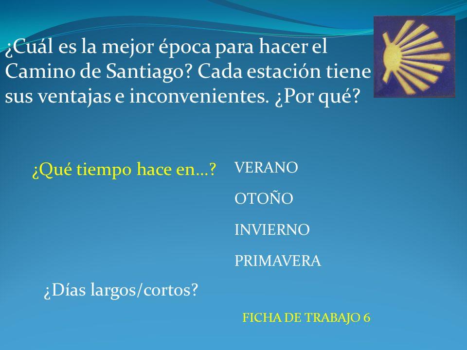 ¿Cuál es la mejor época para hacer el Camino de Santiago.