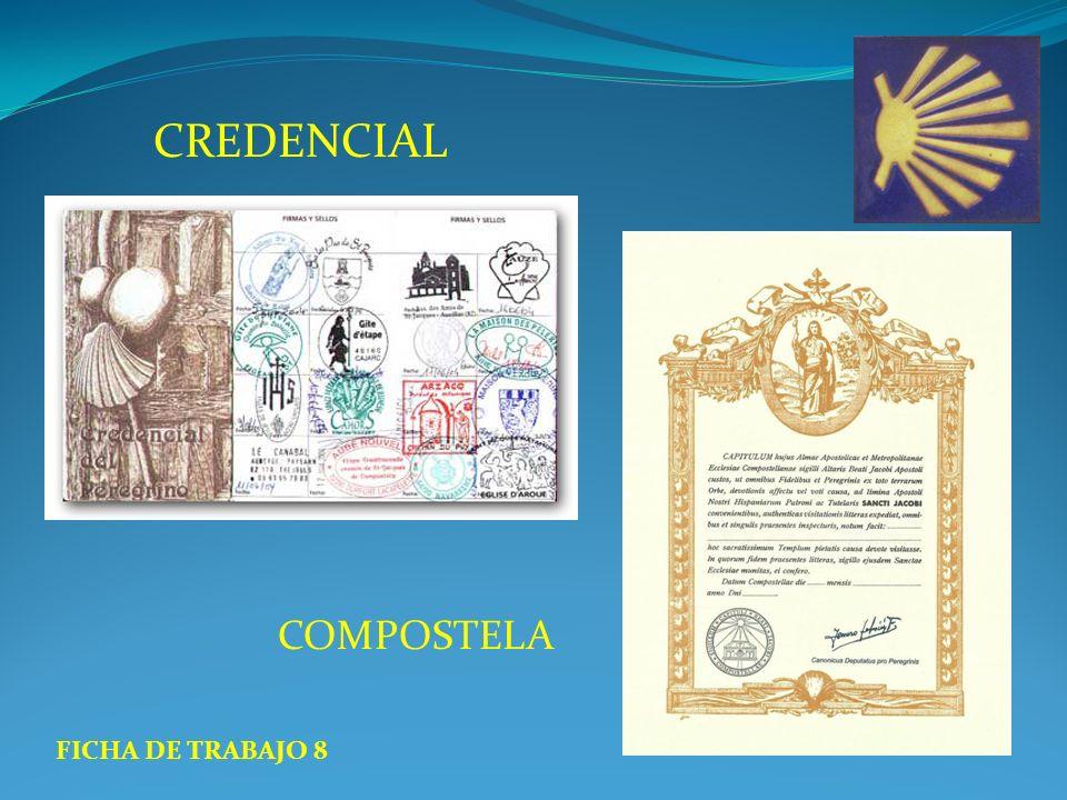 CREDENCIAL COMPOSTELA FICHA DE TRABAJO 8