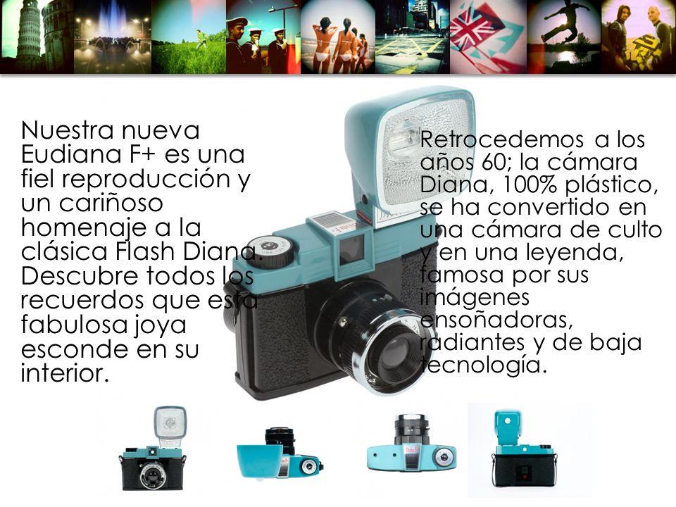 Retrocedemos a los años 60; la cámara Diana, 100% plástico, se ha convertido en una cámara de culto y en una leyenda, famosa por sus imágenes ensoñado