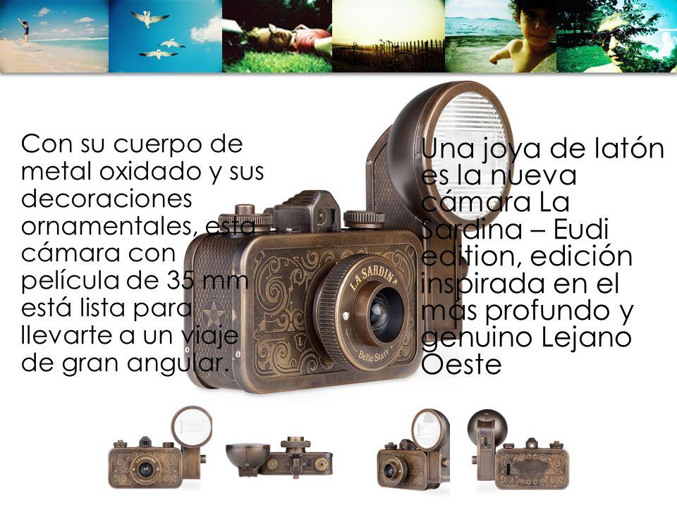 Una joya de latón es la nueva cámara La Sardina – Eudi edition, edición inspirada en el más profundo y genuino Lejano Oeste Con su cuerpo de metal oxi
