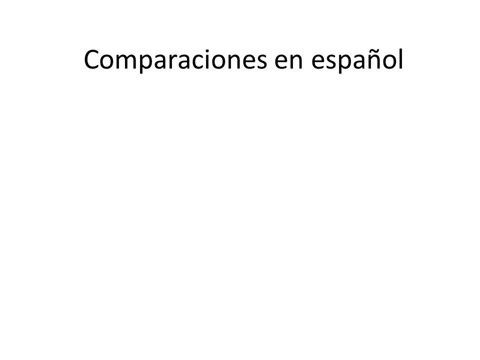 Comparaciones en español