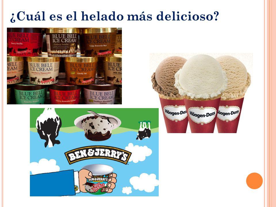 ¿Cuál es el helado más delicioso?