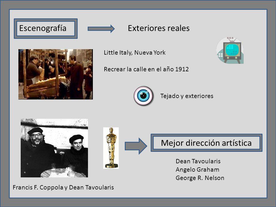 EscenografíaExteriores reales Little Italy, Nueva York Recrear la calle en el año 1912 Francis F.