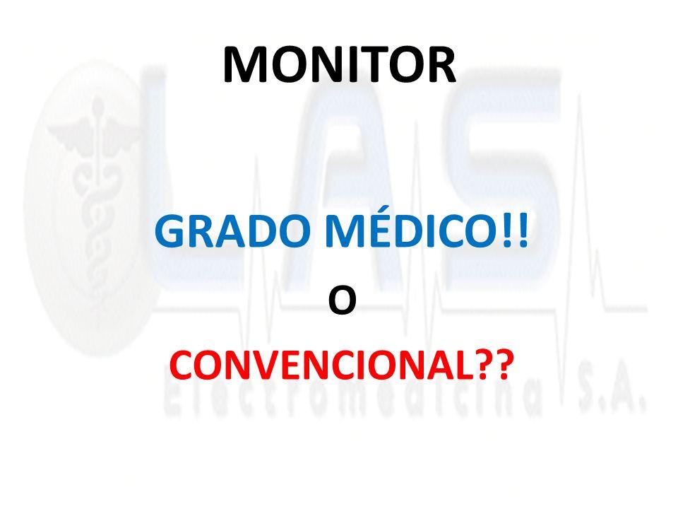 MONITOR GRADO MÉDICO!! O CONVENCIONAL??