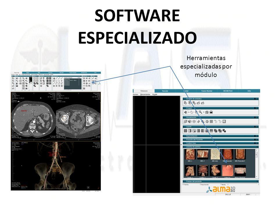 SOFTWARE ESPECIALIZADO Herramientas especializadas por módulo