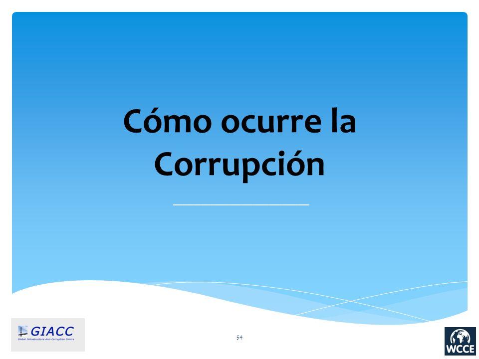 54 Cómo ocurre la Corrupción ____________________