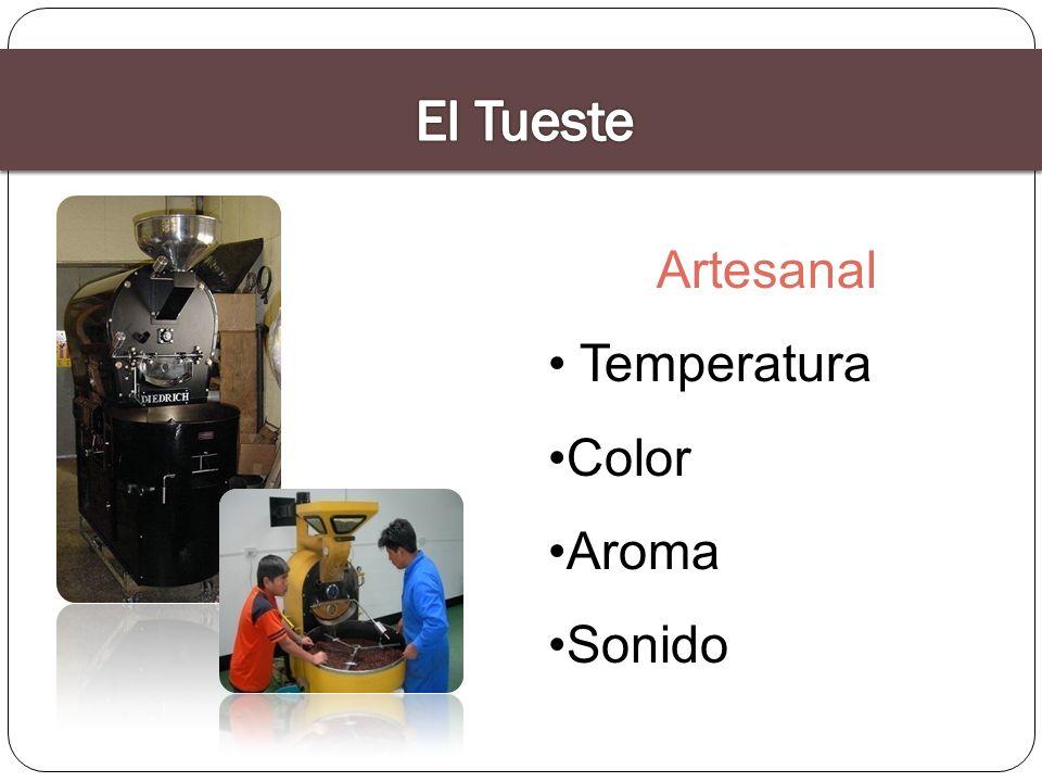 Tipos de calor Conducción: transferencia de calor por contacto entre las paredes del tostador y el café Convección: transferencia de calor entre aire caliente y el grano Irradiación: absorción particular de microondas (transferencia de calor en función del tenor del tenor de agua de los granos)