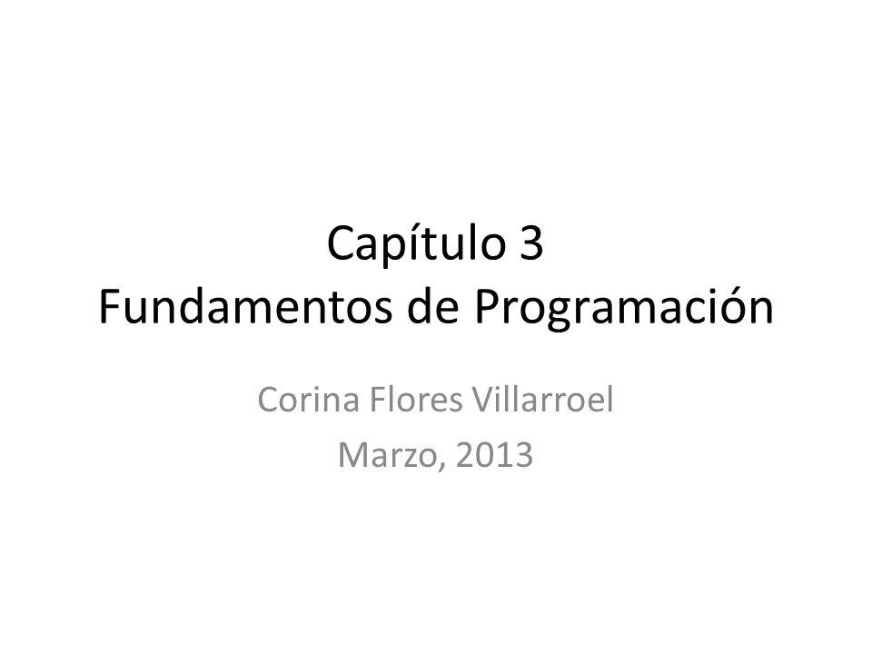 Capítulo 3 Fundamentos de Programación Corina Flores Villarroel Marzo, 2013