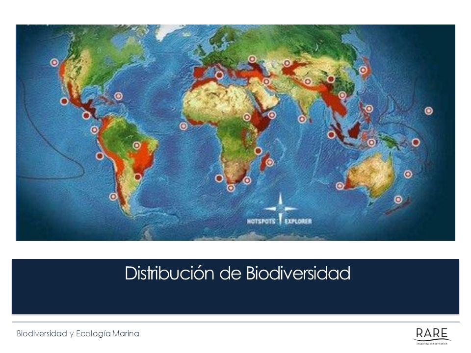 Biodiversidad y Ecología Marina Distribución de Biodiversidad