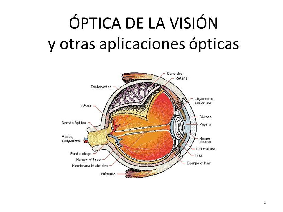 ÓPTICA DE LA VISIÓN y otras aplicaciones ópticas 1