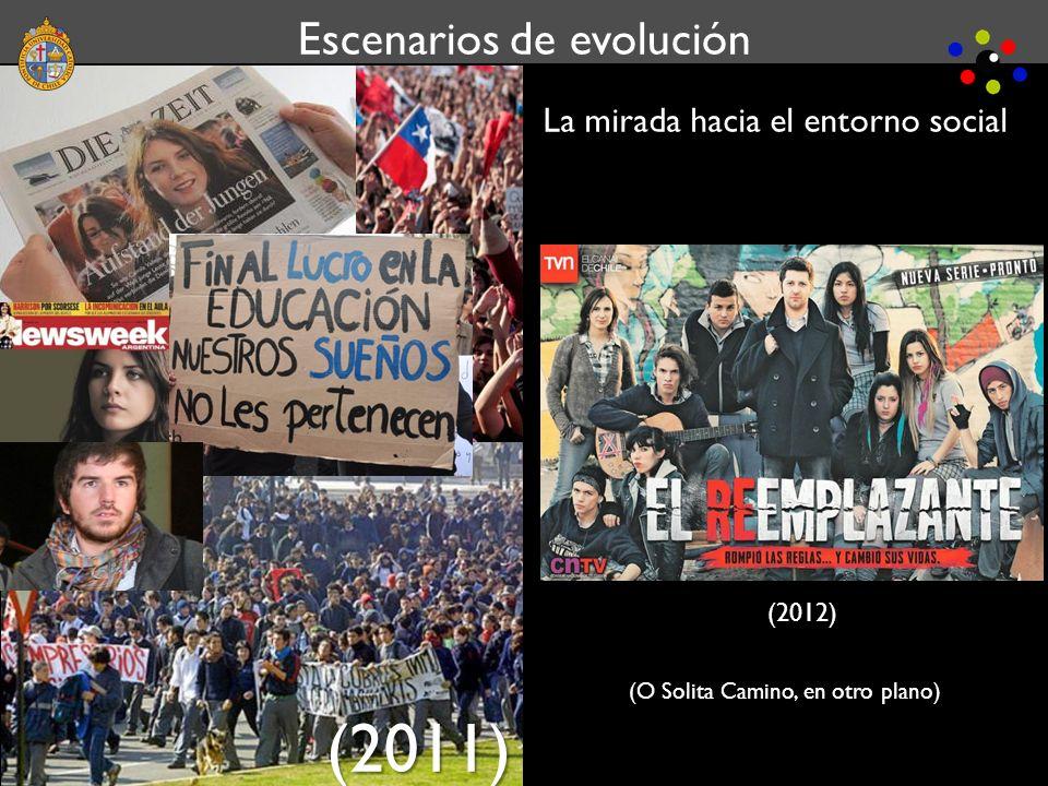 Escenarios de evolución La mirada hacia el entorno social (2011) Escenarios de evolución (2012) (O Solita Camino, en otro plano)