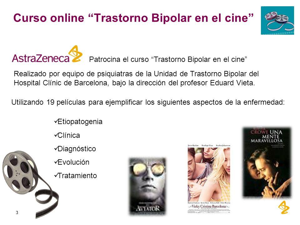 Curso online Trastorno Bipolar en el cine 3 Etiopatogenia Clínica Diagnóstico Evolución Tratamiento Patrocina el curso Trastorno Bipolar en el cine Ut