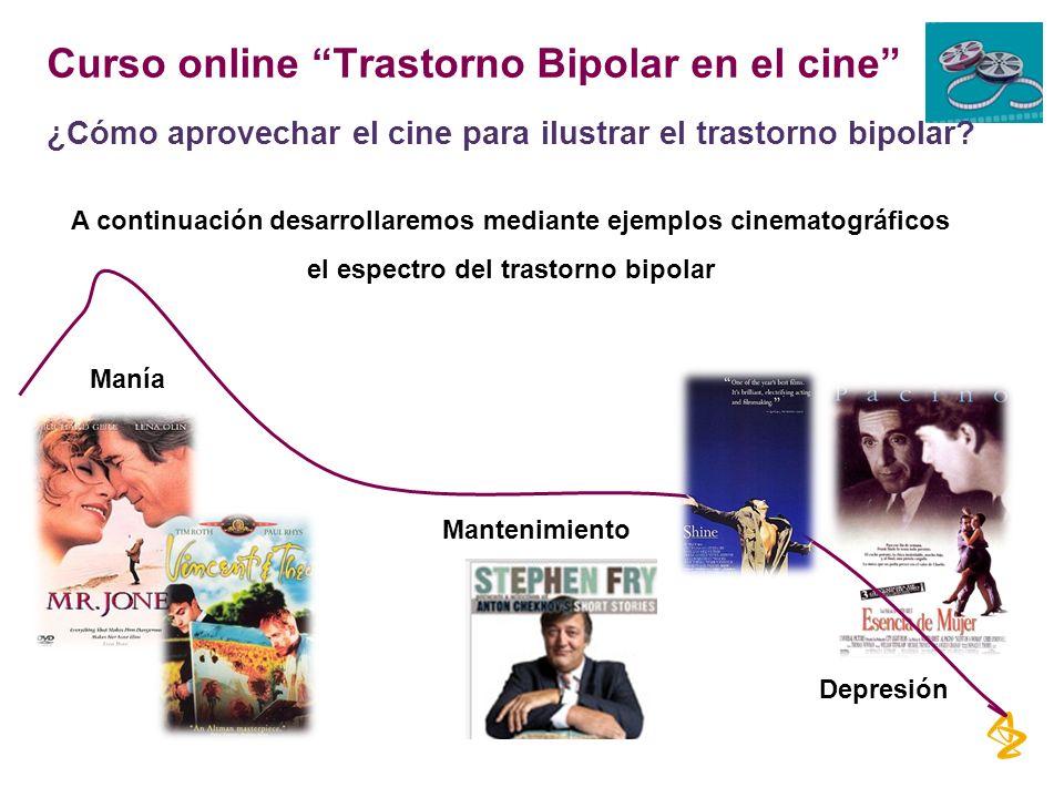 Curso online Trastorno Bipolar en el cine ¿Cómo aprovechar el cine para ilustrar el trastorno bipolar? A continuación desarrollaremos mediante ejemplo