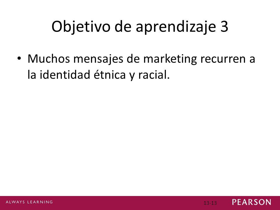 Objetivo de aprendizaje 3 Muchos mensajes de marketing recurren a la identidad étnica y racial.