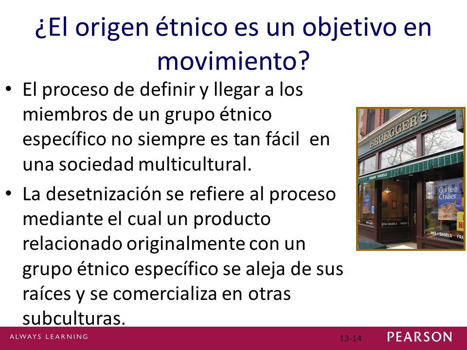13-14 ¿El origen étnico es un objetivo en movimiento.
