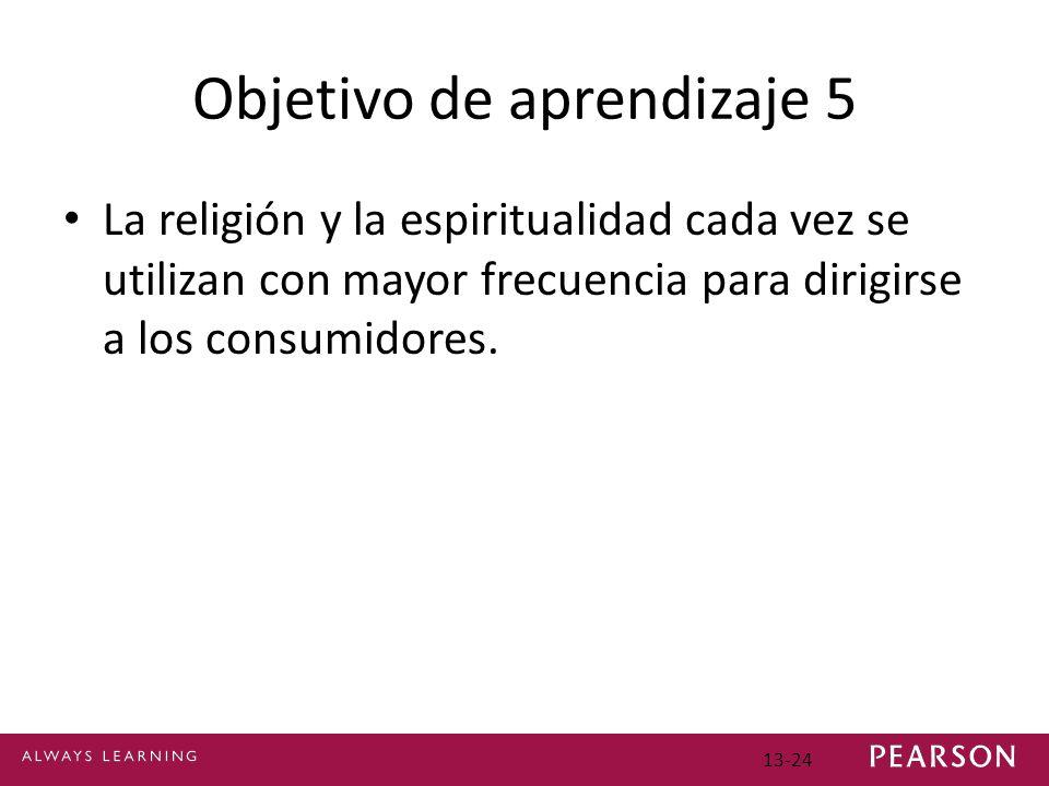 Objetivo de aprendizaje 5 La religión y la espiritualidad cada vez se utilizan con mayor frecuencia para dirigirse a los consumidores.