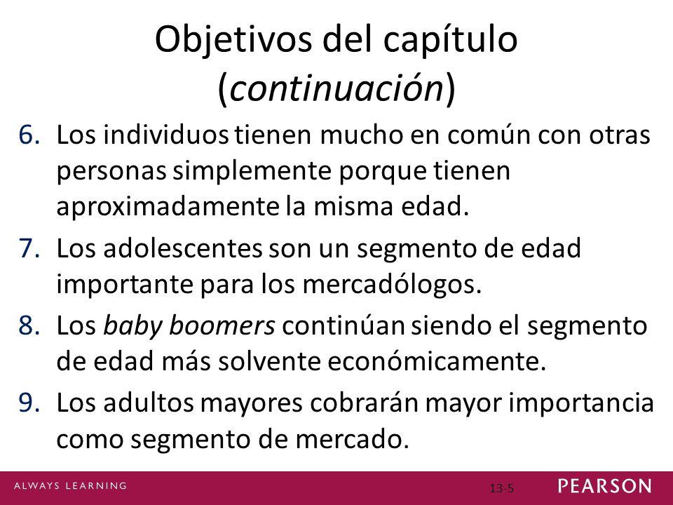 Objetivos del capítulo (continuación) 6.Los individuos tienen mucho en común con otras personas simplemente porque tienen aproximadamente la misma edad.