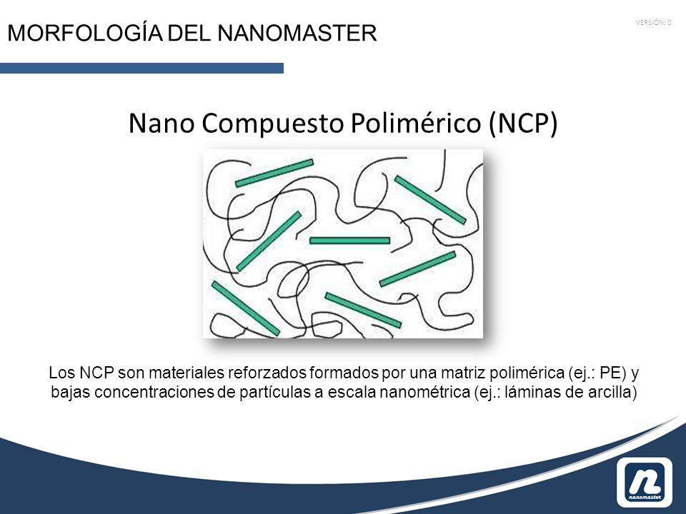 VERSIÓN: 0 MORFOLOGÍA DEL NANOMASTER Nano Compuesto Polimérico (NCP) Los NCP son materiales reforzados formados por una matriz polimérica (ej.: PE) y