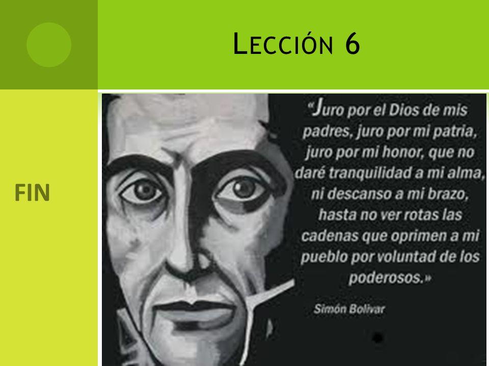 L ECCIÓN 6 FIN