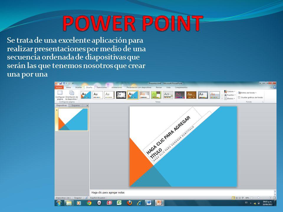 Una vez que tienes instalado Office, para acceder a Power Point 2007 Hacer un clic en el icono correspondiente Acceder mediante el botón INICIO Todos los programas Microsoft office POWER POINT