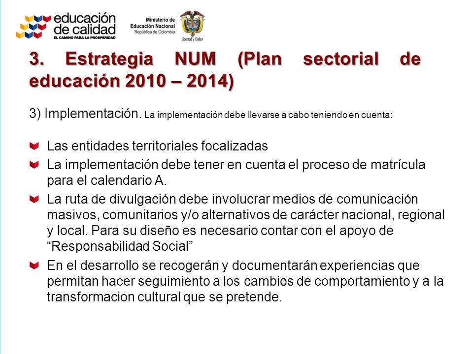 3) Implementación.