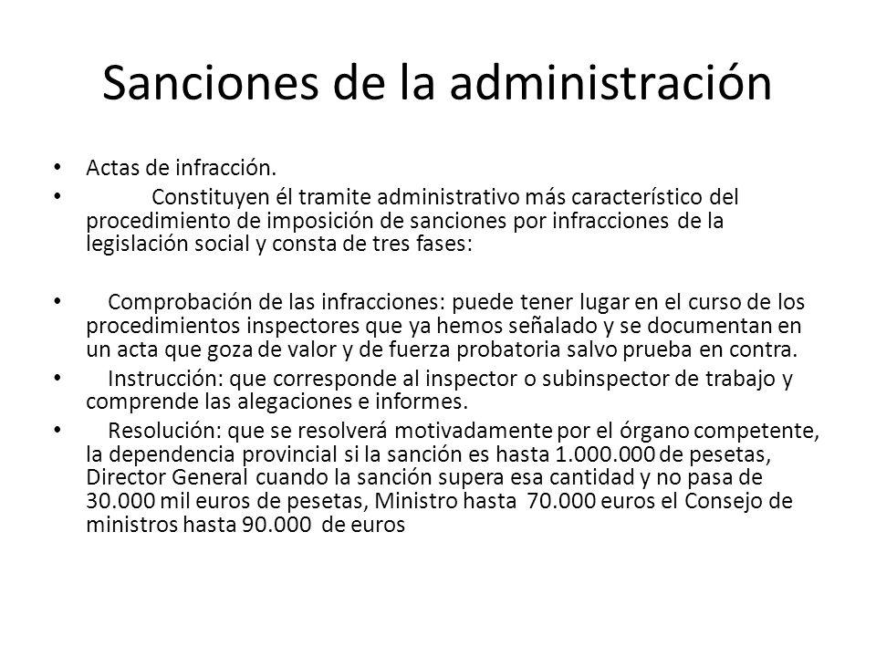 Sanciones de la administración Actas de infracción. Constituyen él tramite administrativo más característico del procedimiento de imposición de sancio