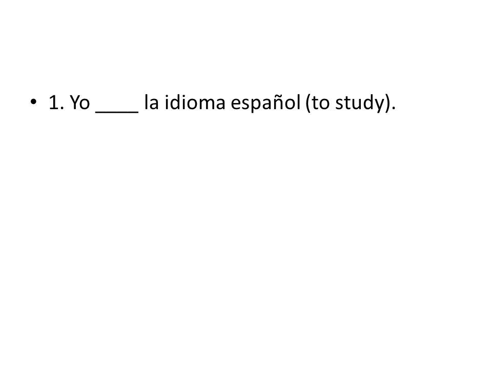 38. Yo _____ inglès y español (to speak).