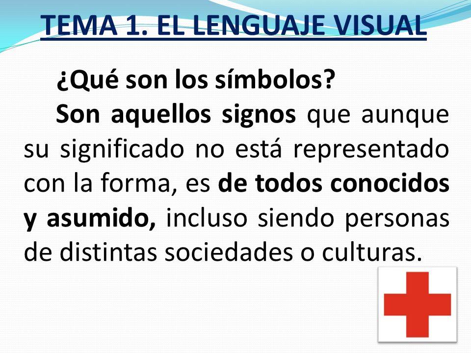 TEMA 1. EL LENGUAJE VISUAL ¿Qué son las señales? Son signos similares al pictograma que pretenden provocar una acción al receptor. Utilizan códigos un