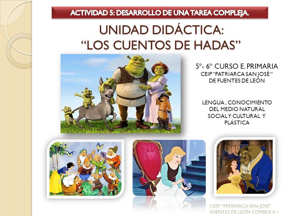 UNIDAD DIDÁCTICA: LOS CUENTOS DE HADAS 5º- 6º CURSO E.