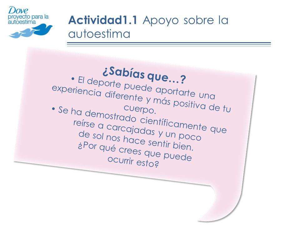 Actividad1.1 Apoyo sobre la autoestima ¿Sabías que….