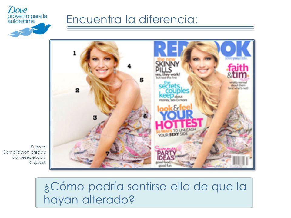 Encuentra la diferencia: ¿Cómo podría sentirse ella de que la hayan alterado? USAUK Fuente: Compilación creada por Jezebel.com © Splash
