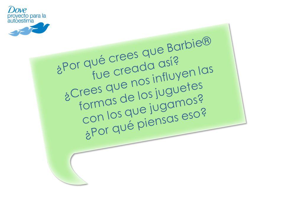 ¿Por qué crees que Barbie® fue creada así? ¿Crees que nos influyen las formas de los juguetes con los que jugamos? ¿Por qué piensas eso?