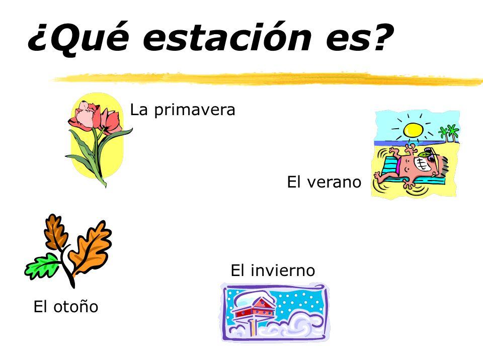 ¿Qué estación es? La primavera El invierno El otoño El verano
