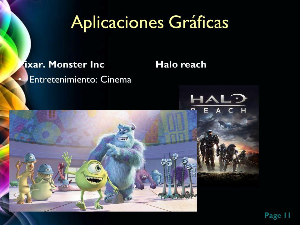 Page 11 Aplicaciones Gráficas Pixar. Monster Inc Entretenimiento: Cinema Halo reach