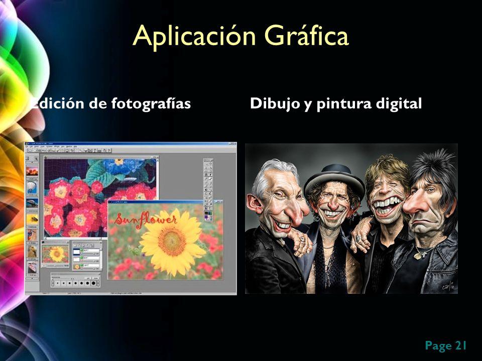 Page 21 Aplicación Gráfica Edición de fotografíasDibujo y pintura digital