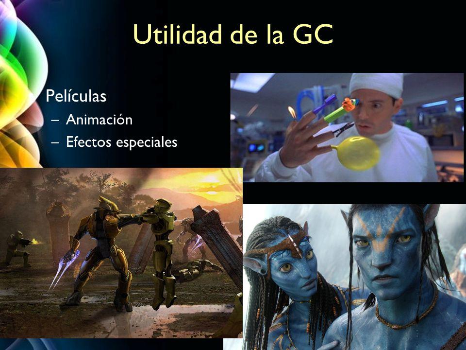 Page 3 Utilidad de la GC Películas –Animación –Efectos especiales